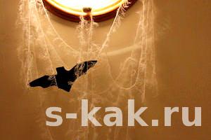Как сплести паутину на Хэллоувин