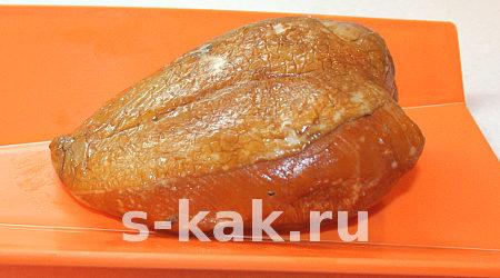 Копченая курица с ананасами
