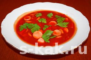 Суп из томатного сока