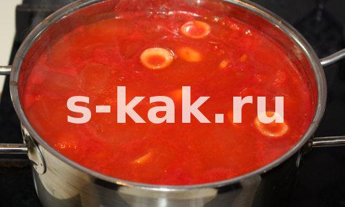 Рецепт супа из томатного сока