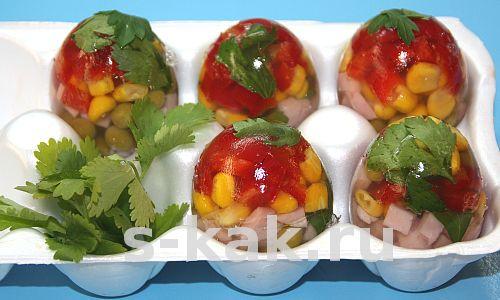 Заливные яйца. Фоторецепт с пошаговой инструкцией