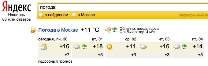 МЕТЕОНОВА  погода в Москве прогноз погоды в Москве на 14