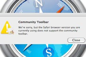 Как удалить Community toolbar из Safari