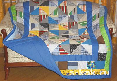 Как сшить лоскутное одеяло (покрывало)