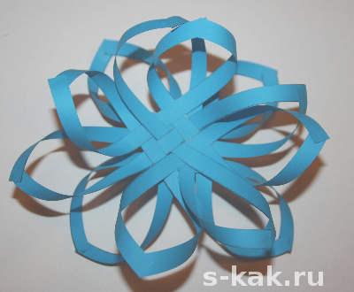 Объемная снежинка из бумаги как сделать