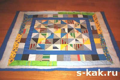 Как сделать стежку одеяла