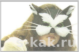 Как сделать маску кошки или кота из картона
