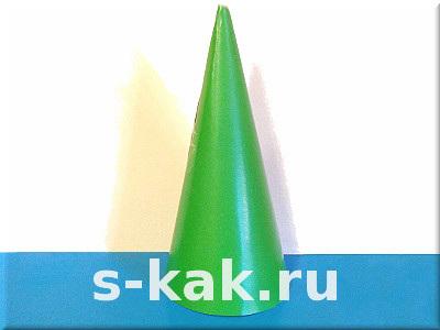 Как сделать елку из бумаги. Конус