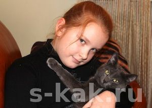 Портрет девочка с котом