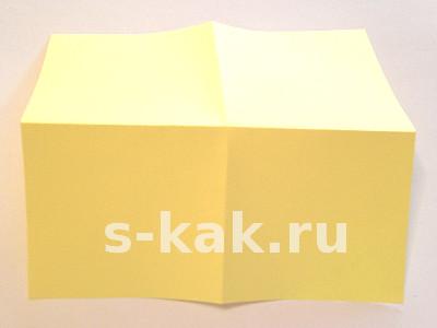 Объемная звезда из бумаги. Шаг 1