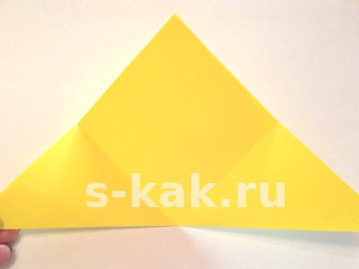 Объемная звезда из бумаги. Шаг 2