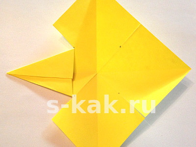 Объемная звезда из бумаги. Шаг 4