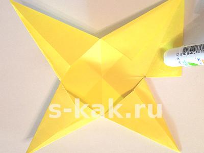 Объемная звезда из бумаги своими руками. Шаг 5