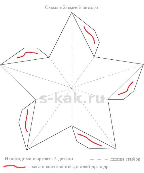 Схема бумажной звезды