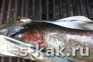 Рыба гриль целиком