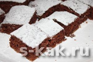Постный шоколадный торт без яиц и молока