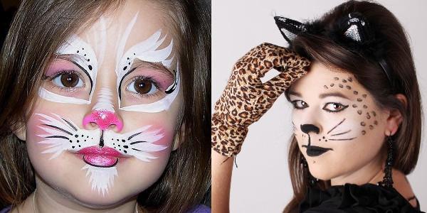 детский макияж для хэллоуина