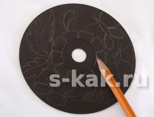 Как сделать гравюру на старом CD шаг 3