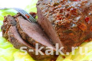 Как запечь говядину в духовке (ростбиф)