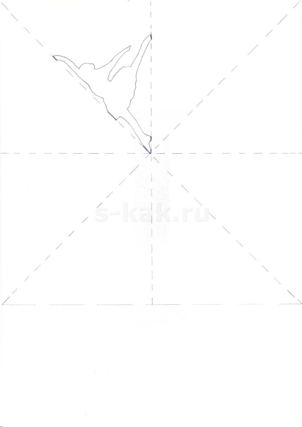 Схема снежинки № 1 из бумаги