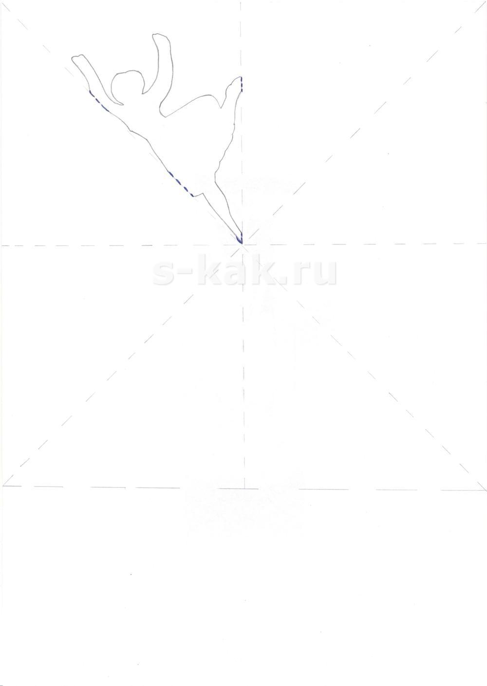 Вырезаем снежинку из бумаги по схеме