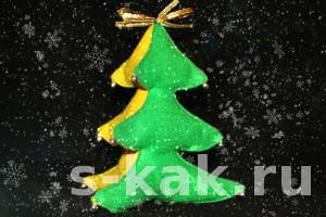 Как сшить новогоднюю елочку своими руками
