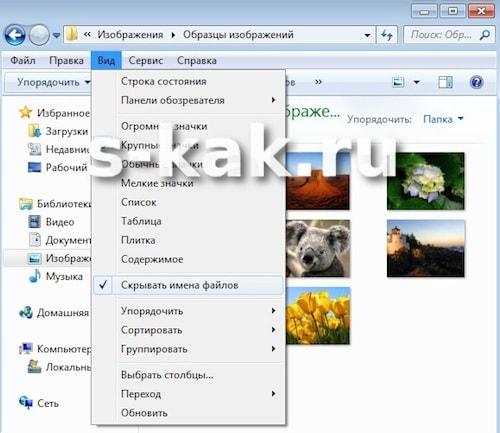 Как удалить имена файлов в Windows