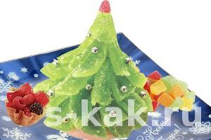 Как сделать сладкую елку из мармелада