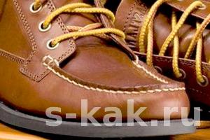 Как почистить обувь из кожи