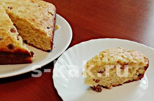 Творожный кекс с изюмом