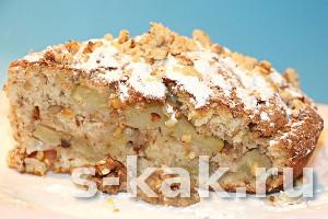 Как приготовить шарлотку с яблоками и грецкими орехами
