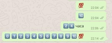 цифры символы для вотсап