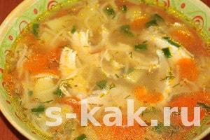 Как сварить простой куриный суп. Рецепт с фото
