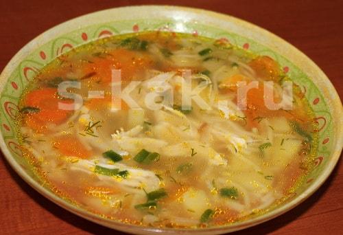 Куриный суп. Рецепт. Фото 6