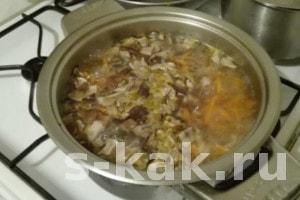 Как сварить суп из сушеных грибов за 40 мин