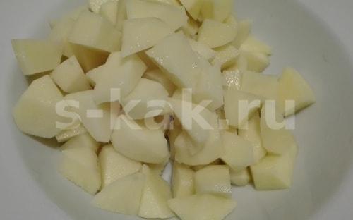 Картошка для супа - Грибной суп из сушеных белых грибов. Пошаговый рецепт с фото