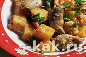 Как приготовить жаркое из мяса и тыквы