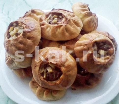 Пошаговый рецепт вак беляши с картошкой и мясом в духовке